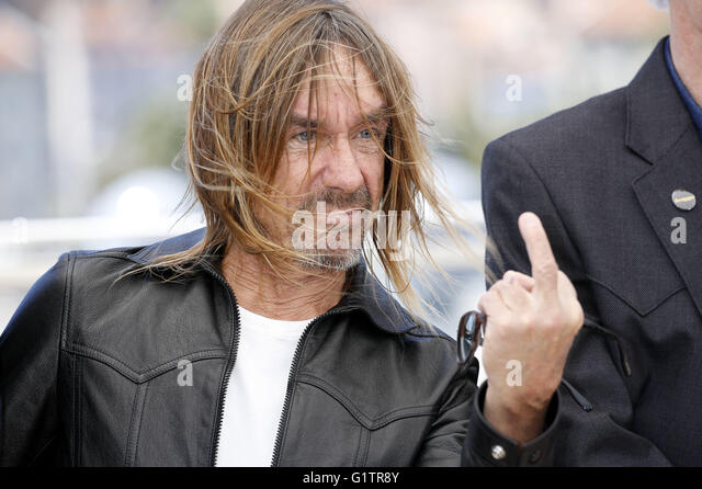 Cannes, France. 19th May, 2016. Iggy Pop at the 'Gimme Danger' photocall during the 69th Cannes Film Festival - Stock Image