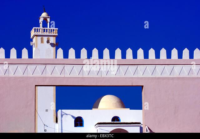 mosquee on Djerba Island, Tunisia - Stock Image