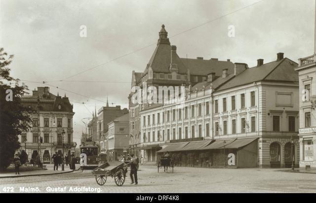 Malmo - Sweden - Gustavus Adolphus Square - Stock Image