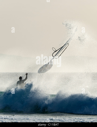 windsurfing accident - Stock Image