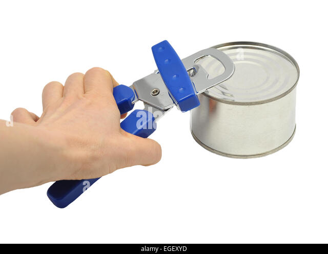 Tin opening - Stock Image