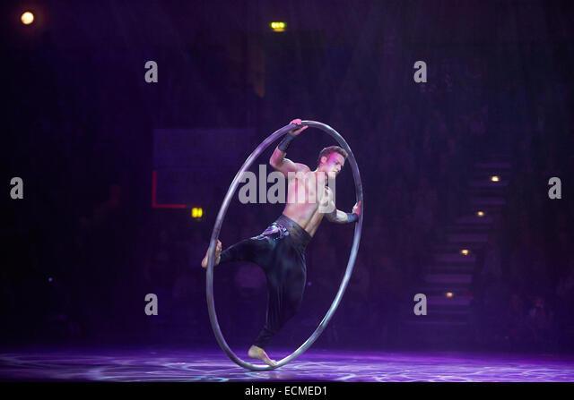 Gymotion gymnastics gala, Conlog Arena, Oberwerth, Koblenz, Rhineland-Palatinate, Germany - Stock Image