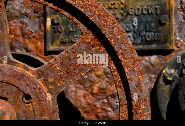 Rusty and corroded metal. - Stock Image
