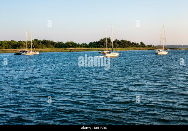 North Carolina NC Morehead City Bogue Sound waterfront - Stock Image
