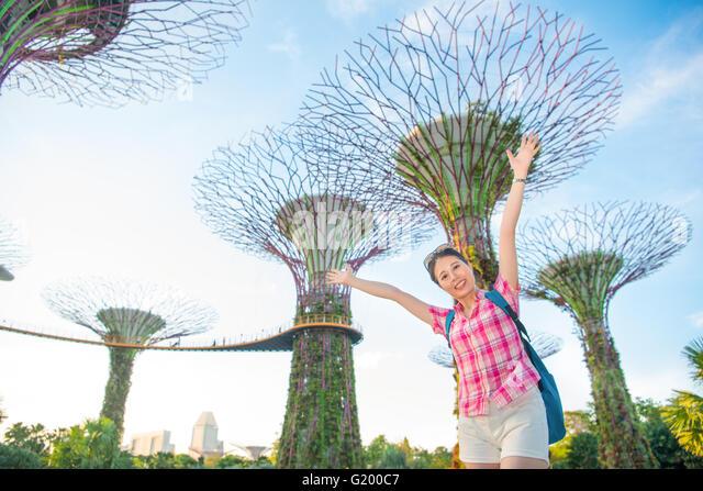 Happy tourist in asia