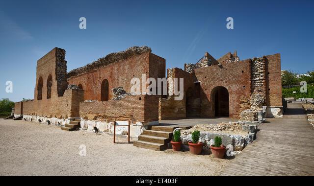 Ruins of Roman odeon in Patras, Greece - Stock Image