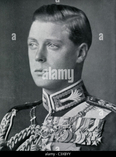 H.R.H. Prince of Wales, photo Swaine from souvenir programme of the King George's Jubilee, published by HMSO. - Stock-Bilder