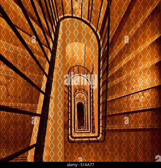 Staircase in a snail shell pattern - Stock-Bilder