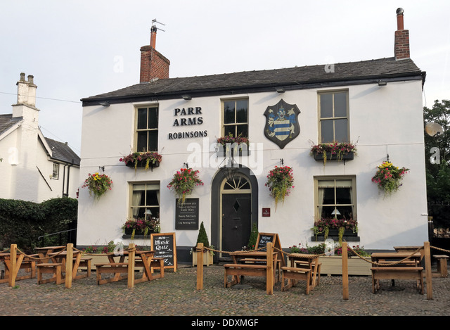 The Parr Arms Pub, Grappenhall Village,Warrington,Cheshire, England, UK - Stock Image