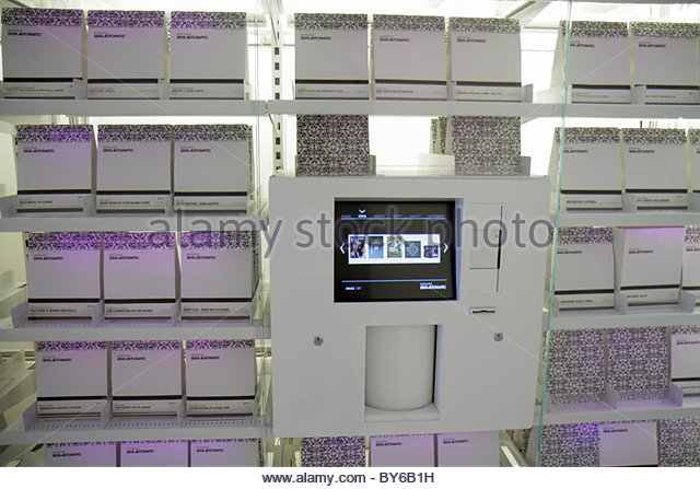 Miami Beach Florida Mondrian South Beach Hotel Morgans Semi-Automatic Vending Machine upscale gifts - Stock Image