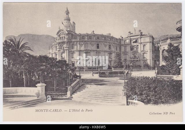 Hotel de Paris, Monte-Carlo, Monaco - Stock Image