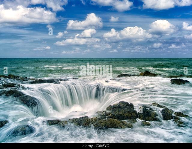 Thor's Well. Oregon coast. - Stock Image