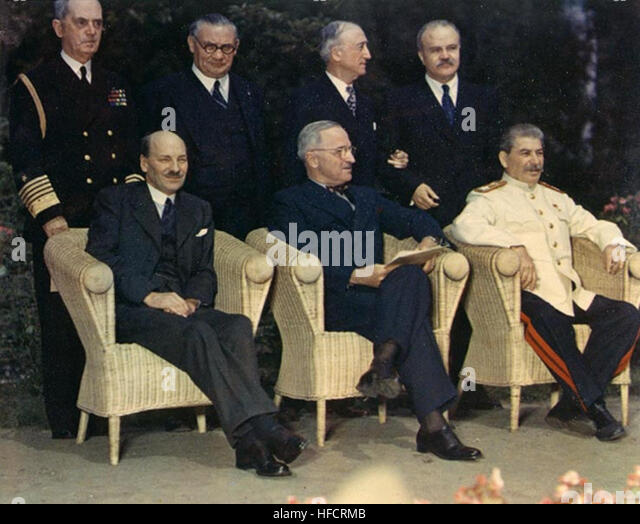 Potsdam Conference - Stock Image