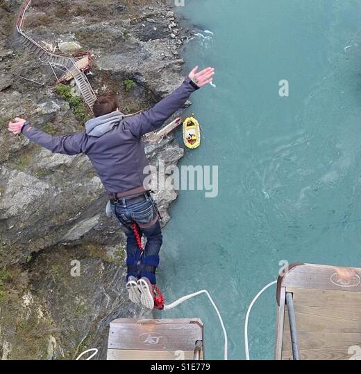 Bridge jumping - Stock-Bilder