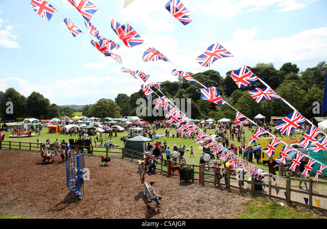 A village fete in Derbyshire, England, U.K. - Stock-Bilder