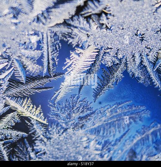 Frost on glass - Stock-Bilder