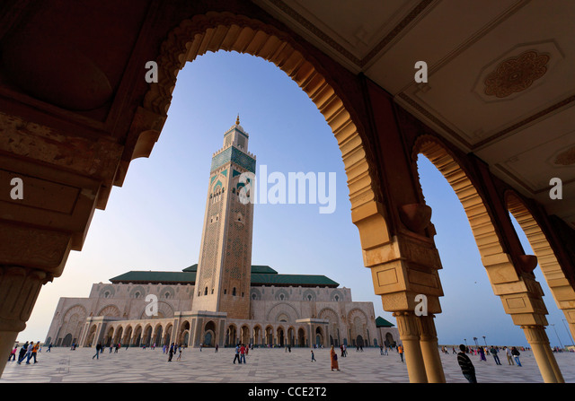 Morocco, Casablanca, Mosque of Hassan II - Stock-Bilder