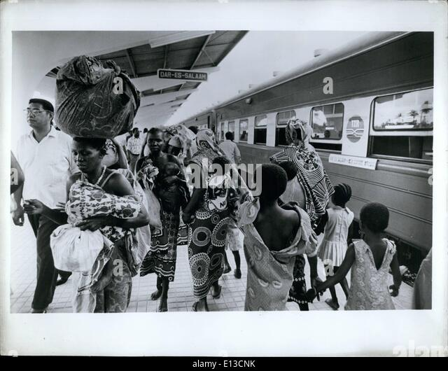 Mar. 02, 2012 - Daressalaam, Tanzania: History was made... as passengers arrive in Daressalaam on the first train - Stock Image