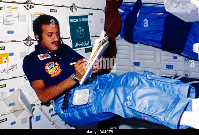 Astronault  Sultan Bin Salman Bin Abdul Aziz In Space Welcome To Riyadh Sign - Stock Image
