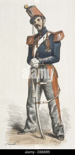 French Cadet Saumur 1850 - Stock-Bilder