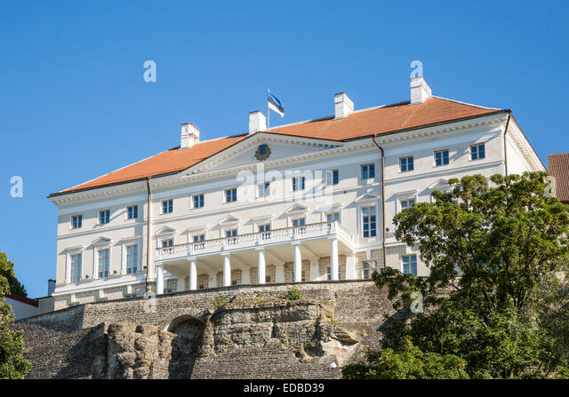 Stenbock House or Stenbocki maja, the seat of the Estonian government, Tallinn, Estonia - Stock Image