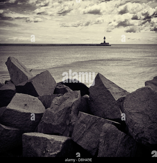 Lighthouse of Sassnitz, Rugen Island, Germany - Stock Image