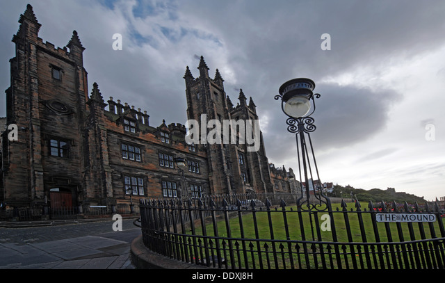 View of The Mound, Edinburgh capital city Lothians Scotland UK - Stock Image
