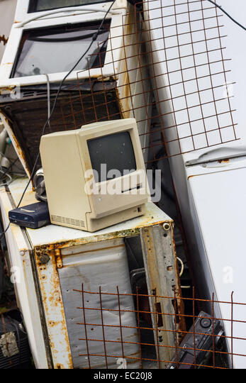 A pile of electrical waste. - Stock Image