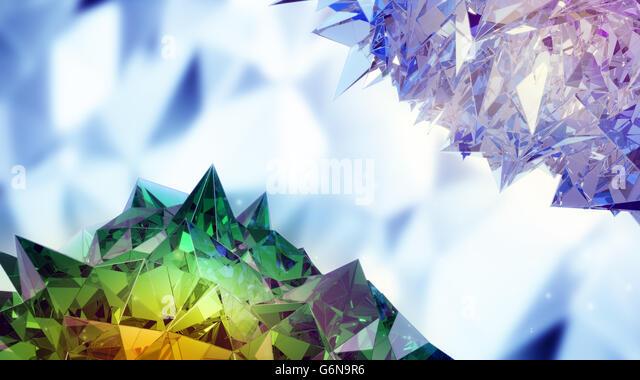 Abstract 3D sharp crystals - Stock-Bilder
