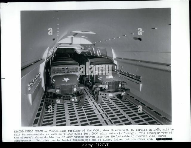 Jan. 10, 2012 - Record Cargo Space: Tunnel-like fuselage of the C-54 when it enters U.S. Service in 1968, will be - Stock Image