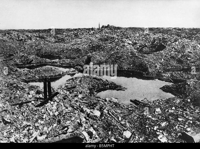 9 1916 11 1 A1 E The destroyed Fort Vaux 1916 World War 1 Western Front Battle of Verdun 1916 The destroyed Fort - Stock-Bilder