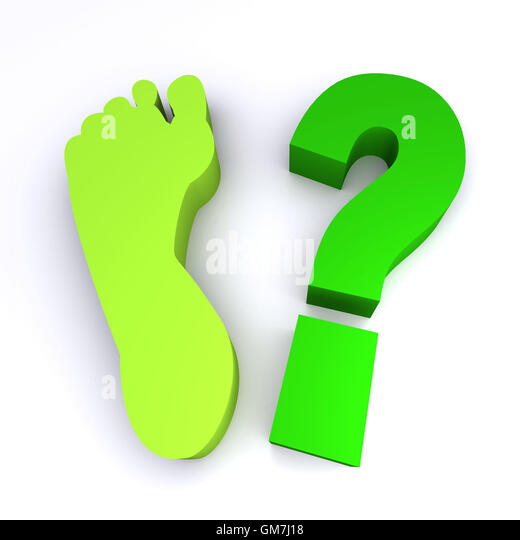 Carbon Footprint - Stock Image