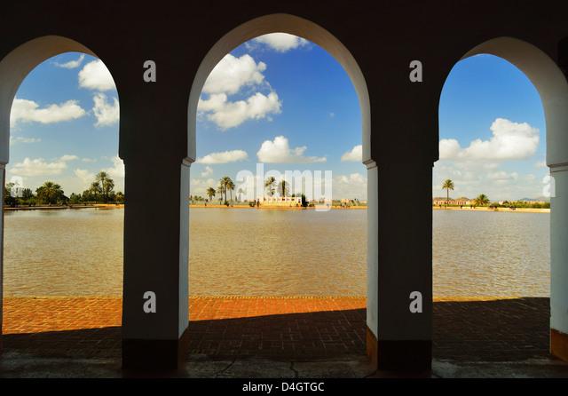 Basin, La Menara (Menara Gardens), Marrakesh, Morocco, North Africa - Stock-Bilder