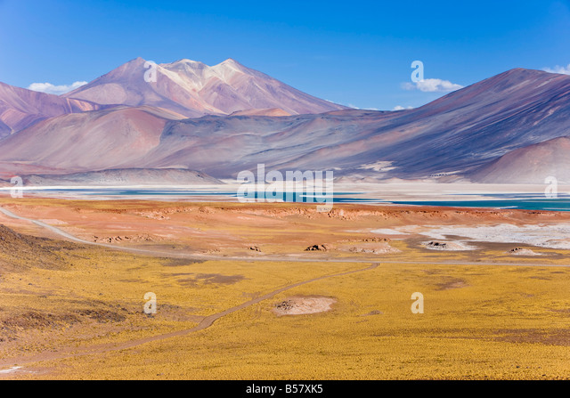 The altiplano, Los Flamencos National Reserve, Atacama Desert, Antofagasta Region, Norte Grande, Chile, South America - Stock-Bilder