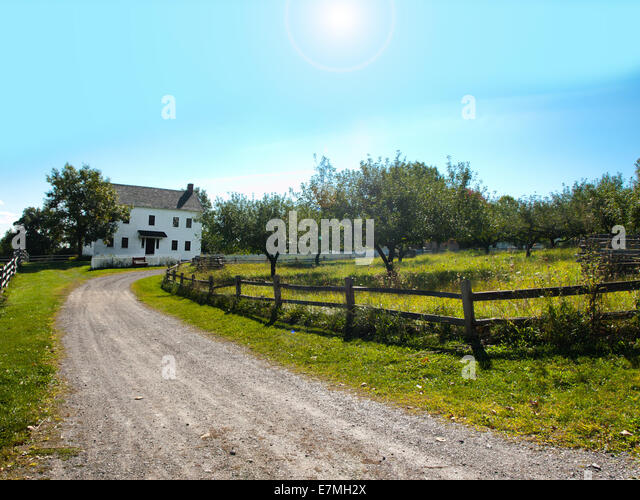 road to small country town stock image