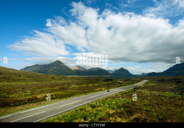 Paved road in rural landscape - Stock-Bilder