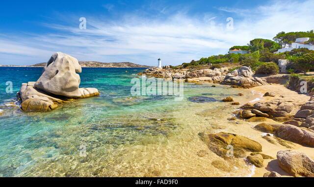 Sardinia Island - Palau Beach, Costa Smeralda, Italy - Stock Image