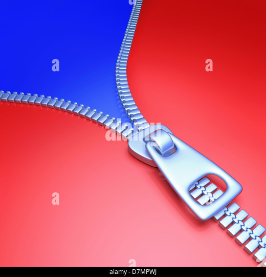 Zip, artwork - Stock Image