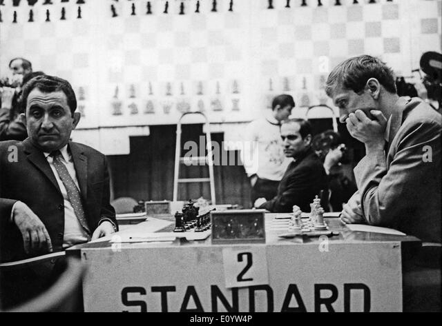 July 01, 1971 - Belgrade, Yugoslavia - File Photo: circa July 1971. Former world chess champion BOBBY FISCHER of - Stock Image