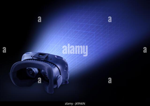 HTC Vive VR headset - Steam VR headset concept illustration - Stock-Bilder