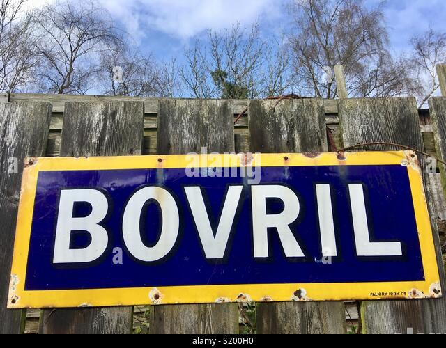 Bovril, historic advertisement - Stock Image