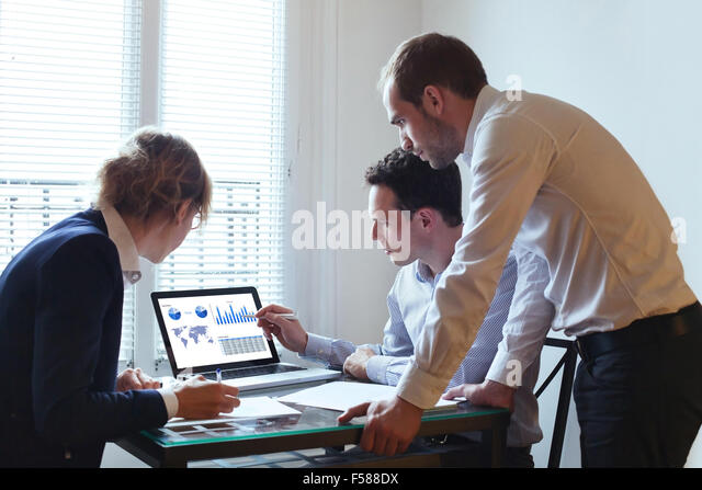 business team working - Stock Image