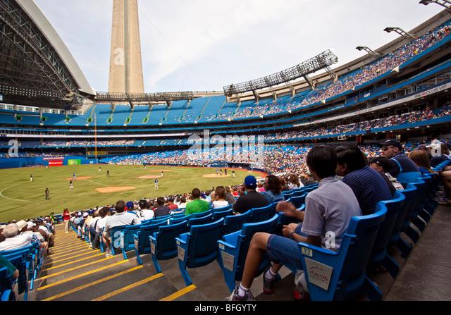 Rogers Centre, Blue Jays baseball at Toronto, Ontario, Canada - Stock Image