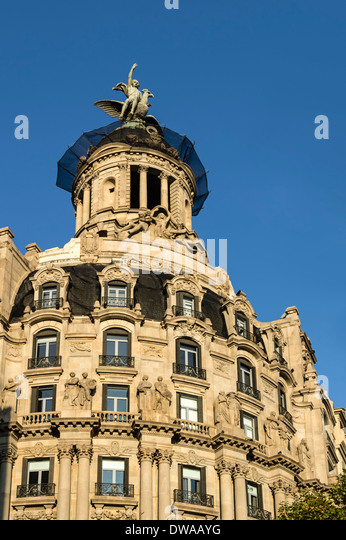 Art deco facade stock photos art deco facade stock - Art deco espana ...