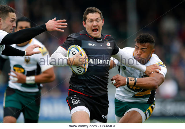 Rugby Union Britain - Saracens v Northampton Saints - Aviva Premiership - Allianz Park - 17/9/16 Saracen's Alex - Stock Image