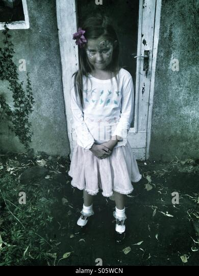 Scared girl - Stock Image