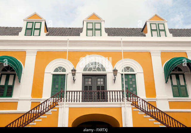 Governor's Palace at Fort Amsterdam, Punda  Willemstad Curacao - Stock Image