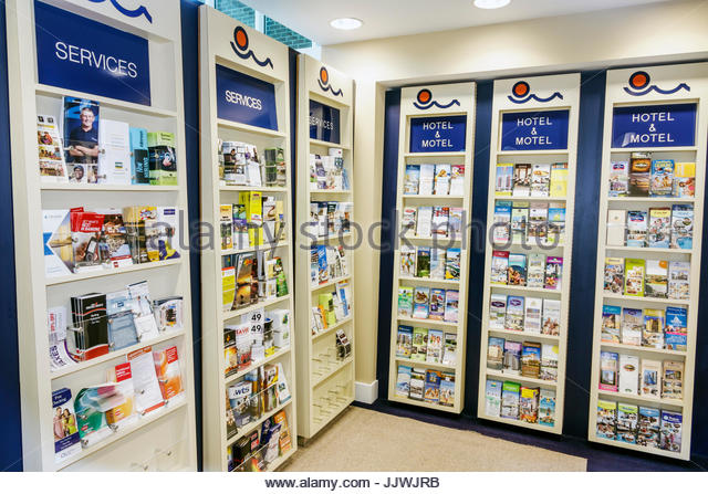 South Carolina SC Myrtle Beach Visitors Center attractions brochures display - Stock Image