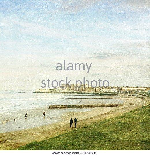 Minnis Bay Kent UK - Stock Image