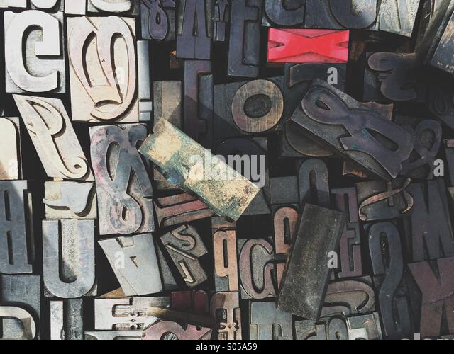 Typography letters. - Stock Image